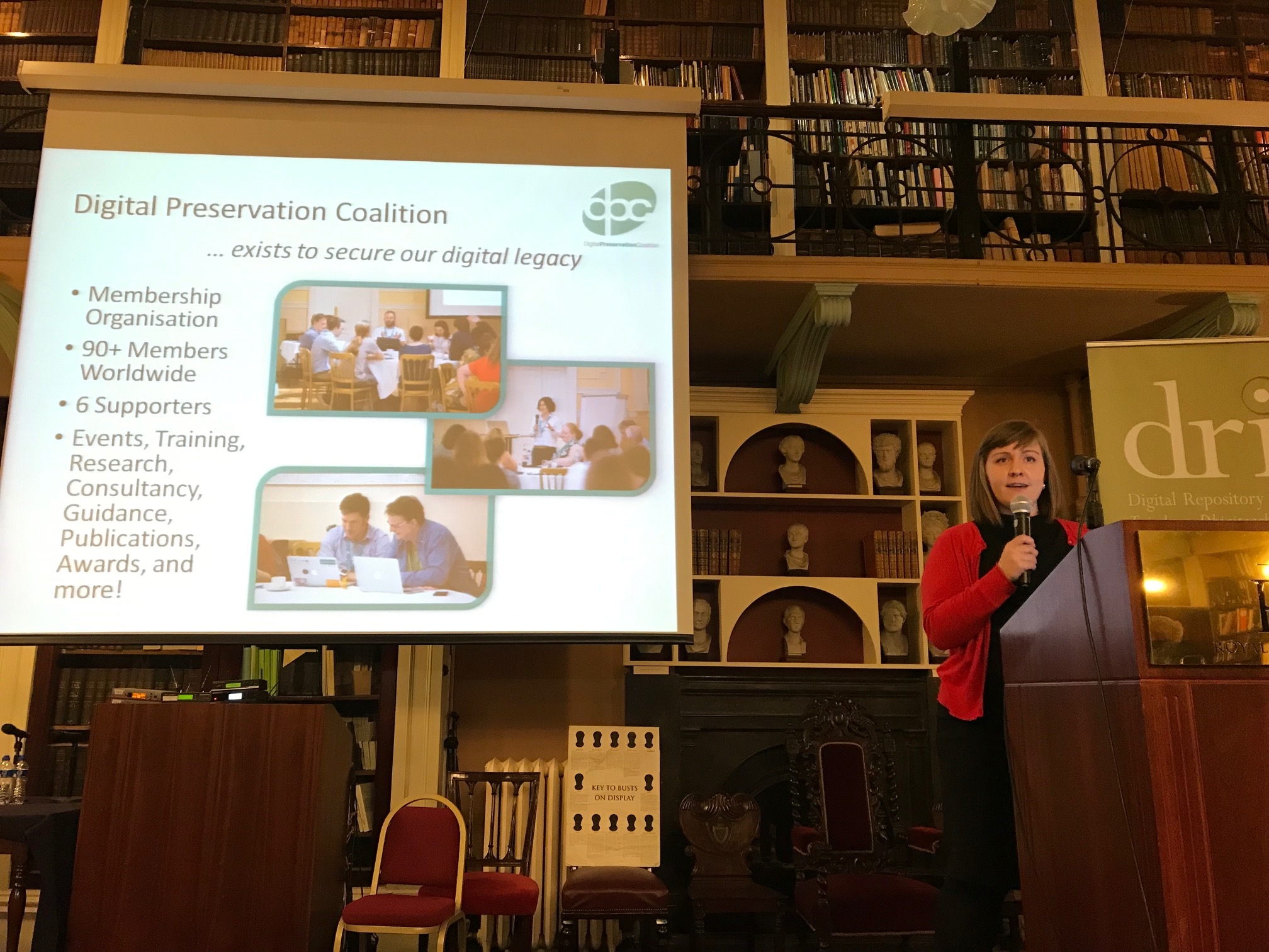 Sara Day Thomson of the Digital Preservation Coalition