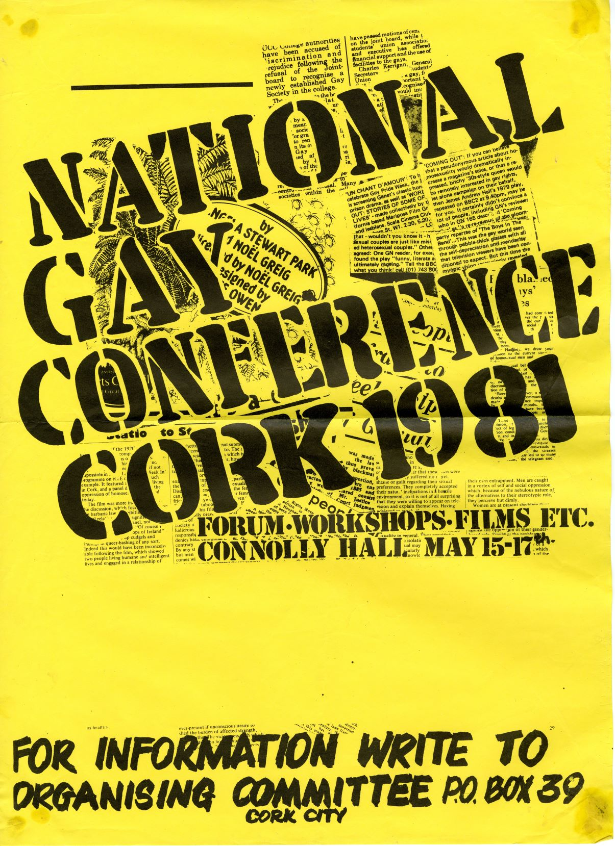 1981 National Gay Conference Cork Poster