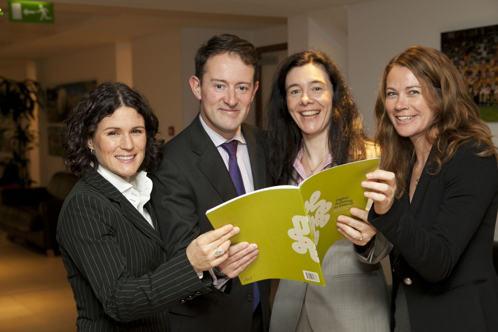 Minister Sherlock and members of the DRI team